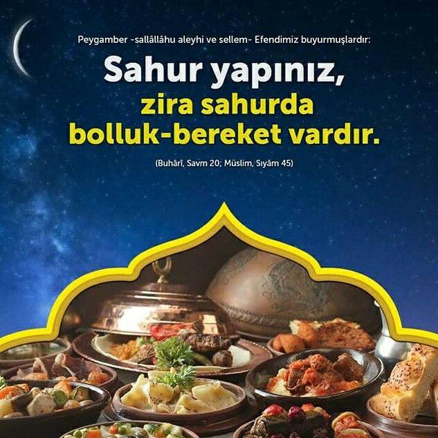 Sahur yapınız.  #sahur #yemek #sünnet #bolluk #bereket #ramazan #oruç #iftar #islam #müslüman #hadis #ilmisuffa