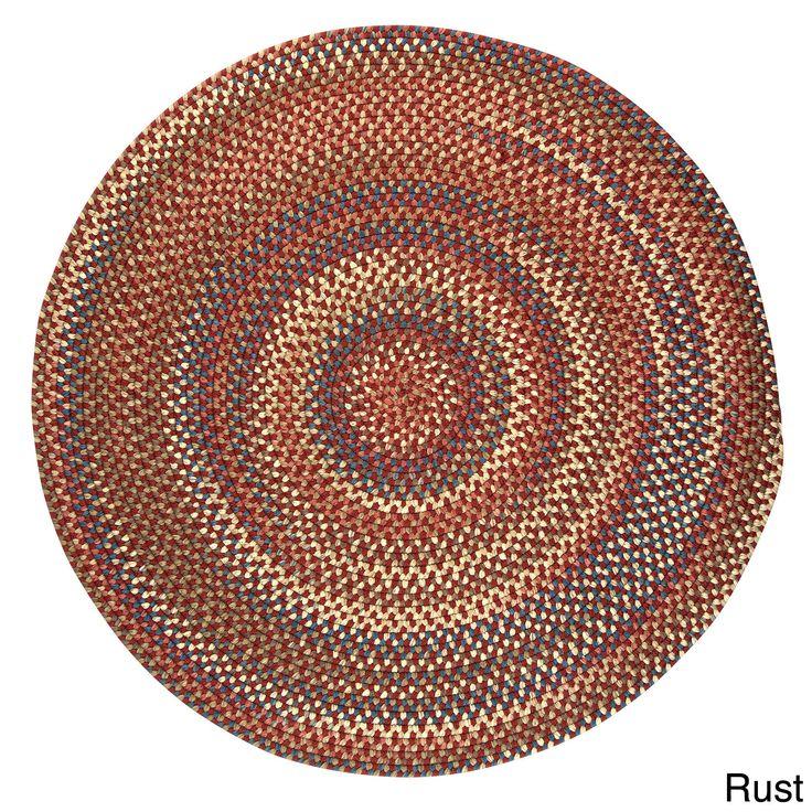Colonial Mills Greenwood Round Braided Rug (12' x 12') (Greenwood Rust 12'x12'), Red, Size 12' x 12' (Nylon, Geometric)