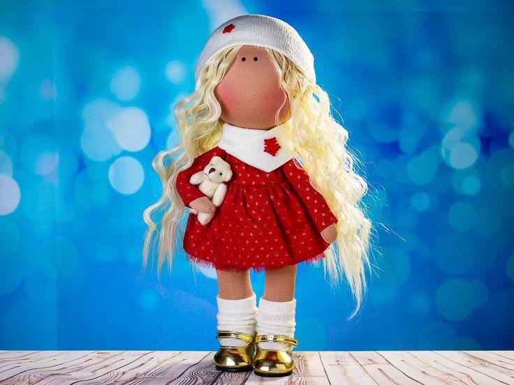 Doll Miranda. Tilda doll. Textile doll. Soft toy. Cute gift. Collection Honey Doll. Сloth doll. Rag doll. Interior doll by OwlsUa on Etsy