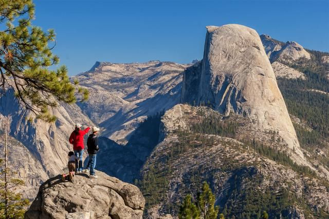 A guide to Yosemite's Glacier Point, including what you can see and how to get there by car, bus and hiking