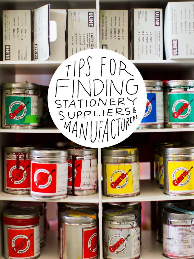 Tips for Finding Stationery Suppliers & Manufactureres | Sycamore Street Press
