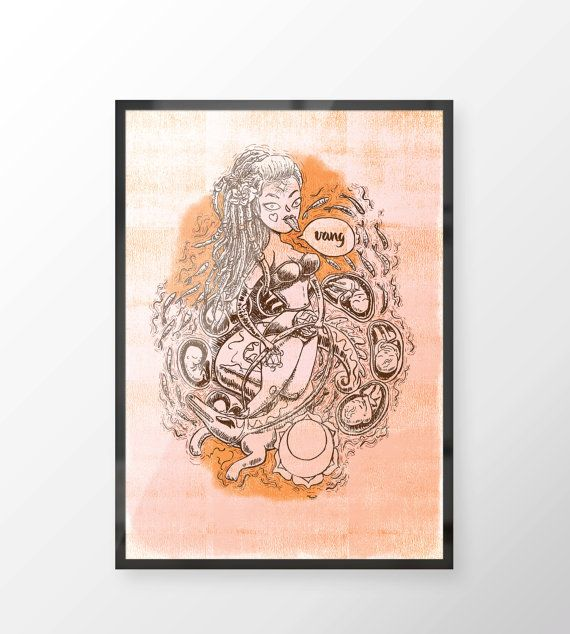Sacral Chakra Illustration  Witches of the Nine by LillaBolecz