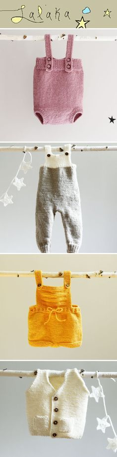 To die for! Hand knitted baby clothes from LalaKa. #babyclothes