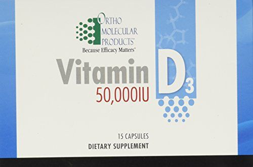 Ortho Molecular Vitamin D3 50000IU 15 Capsules * Details can be found by clicking on the image.
