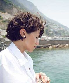 Curly Cropped Short Hairstyle