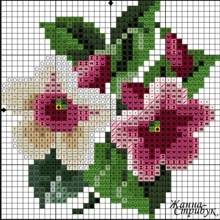 #crossstitch #kanaviçe #çiçek #pembe #beyaz #renkler #sahane