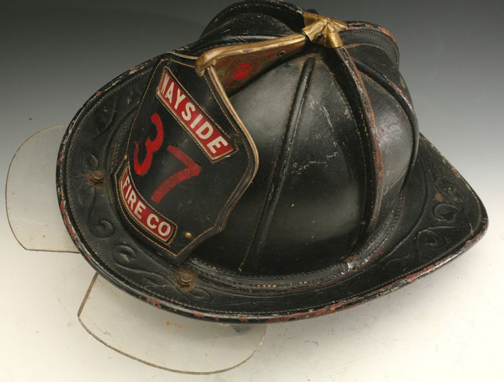 Vintage Cairns and Brother Leather Fire Helmet with Bourke Shield