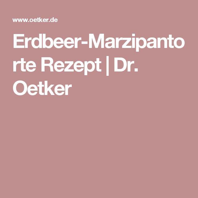 Erdbeer-Marzipantorte Rezept | Dr. Oetker