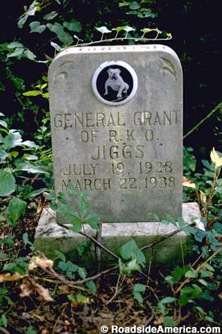Grave of a Petey, Little Rascals Dog Died in 1938 in Silver Spring, Maryland