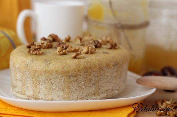 Орехово-медовый бисквит в пароварке