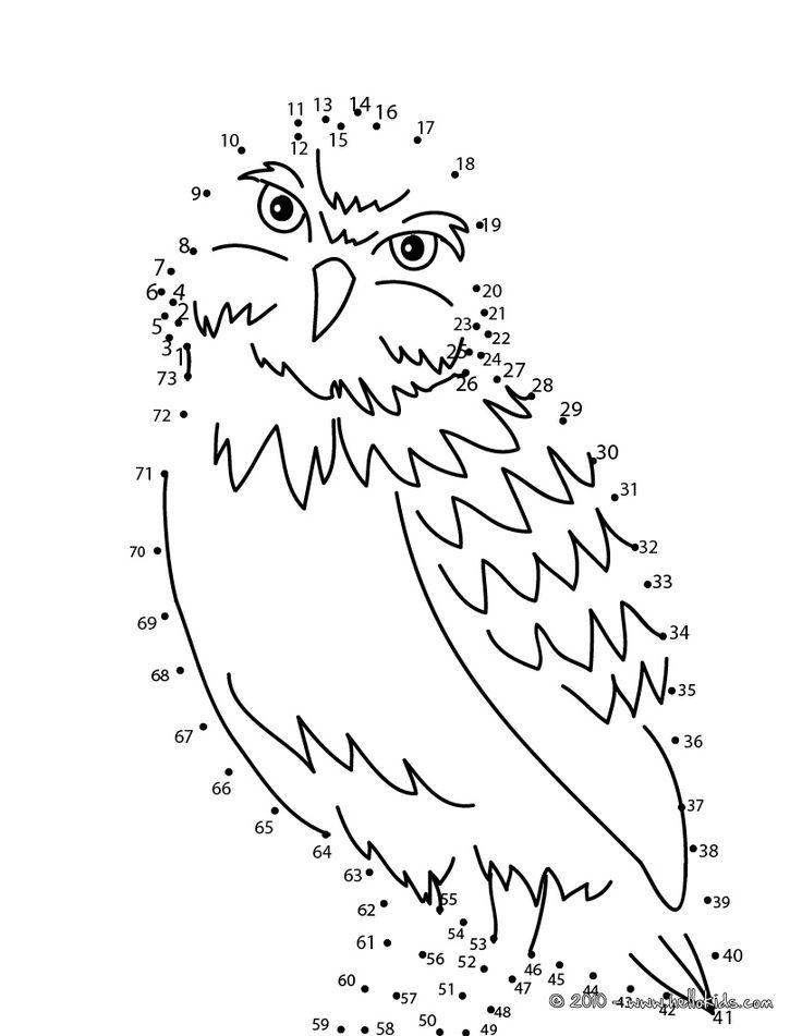 OWL dot to dot game printable connect the dots game