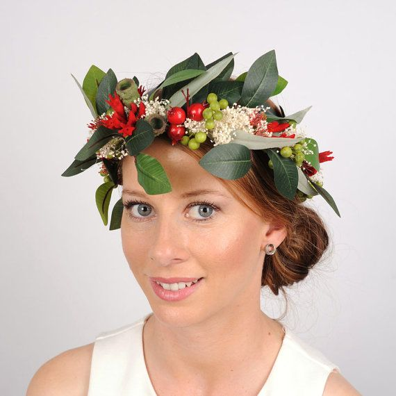 Floral Crown Australian native flowers green by ...