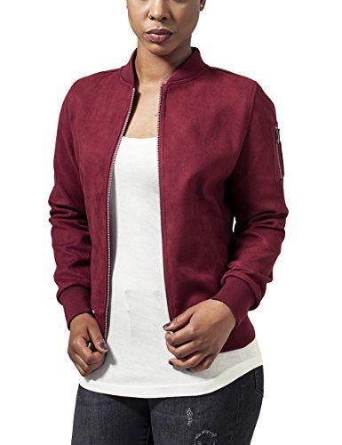 Blouson Bomber Femme Classics Jacket Suede Ladies Imitation Urban wYS4qp