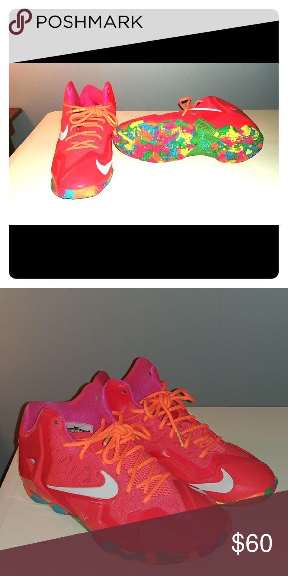 Nike LeBron 11 Fruity Pebbles Worn twice, box not available, great condition Nike Shoes Sneakers