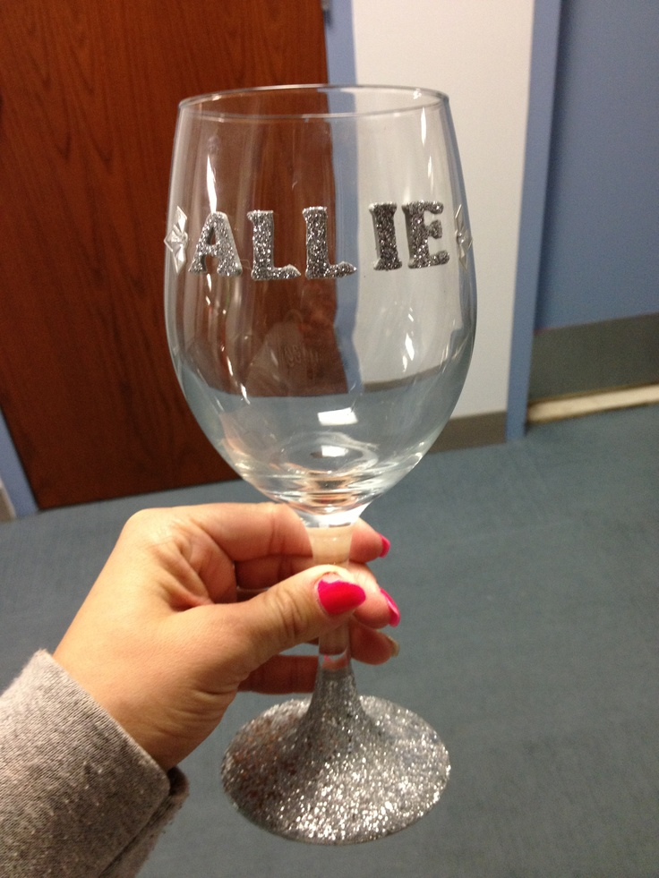 decorate your dorm with fun cheap crafts wine glass from. Black Bedroom Furniture Sets. Home Design Ideas