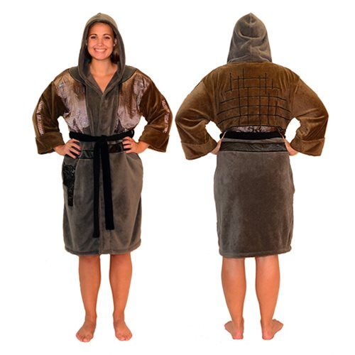 Star Wars Rogue One Jyn Hooded Fleece Bathrobe - Robe Factory - Star Wars - Bed and Bath at Entertainment Earth