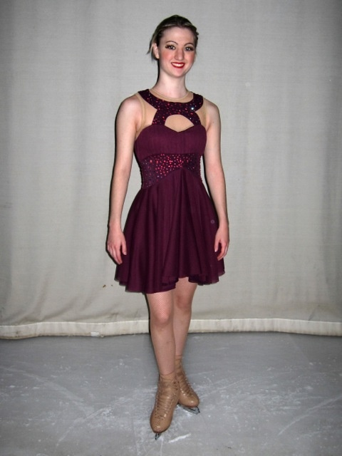 Skating dress by Frozenstage made with Jalie patterns for the Dollywood on Ice show