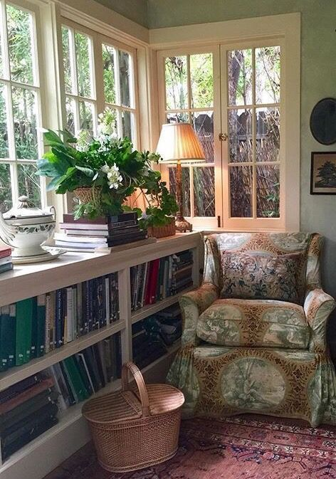 Cottage Home Library: 58+ Ideas For Home Library Cosy Reading Areas In 2020