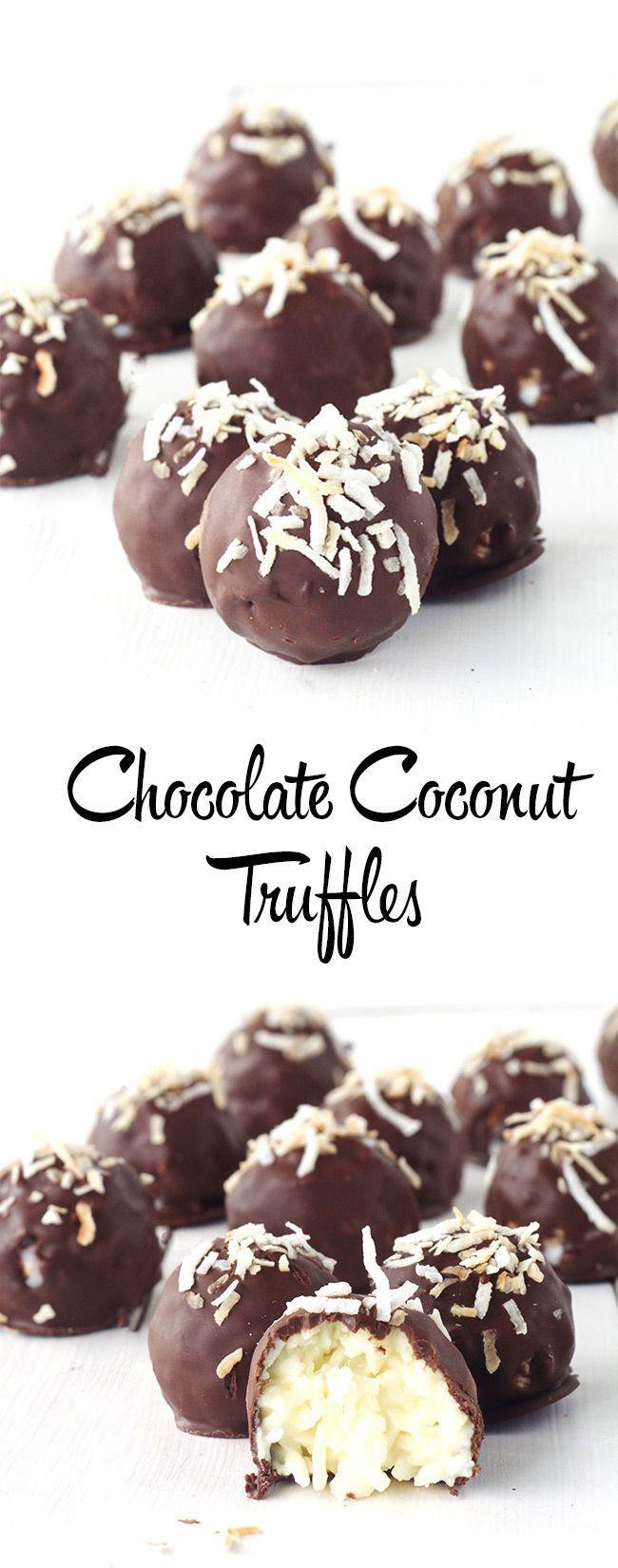 Easy Chocolate Coconut Truffles | Sweetest Menu