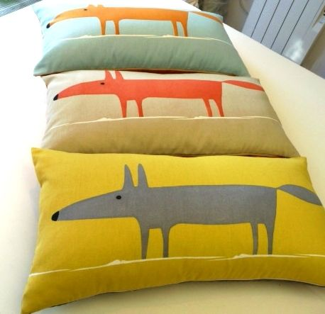 Mr Fox by Scion Fabric Cushion Cover Retro Vintage 3 colour options fabrics available from noctura interiors bangor