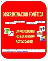DISCRIMINACIÓN FONÉTICA PARES DE PALABRAS CON CONTRASTE MÍNIMO (CUADERNO/MULTIMEDIA)