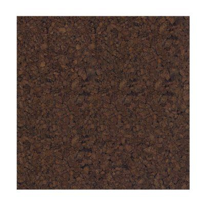 "Flipside Products Cork Tiles Wall Mounted Bulletin Board, 12"" x 12"" Frame Finish: Dark Brown"