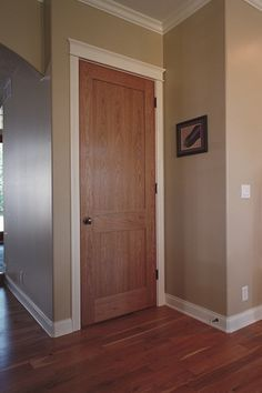 red oak three panel doors with painted trim - Google Search