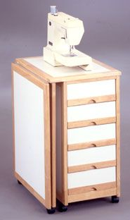 portable and compact sewing table with storage