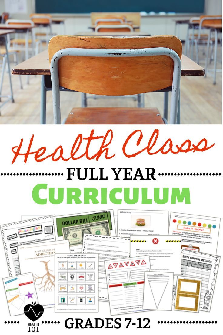 hight resolution of Health Curriculum: Full Year Health Education Lessons for 7th-12th Grade  Health   High school health
