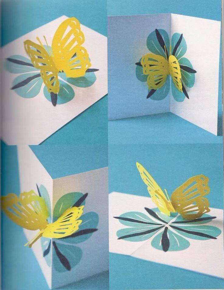 Открытка своими руками на 8 марта маме объемный цветок