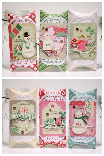 Christmas Pillow Boxes by photochic17 @Two Peas in a Bucket