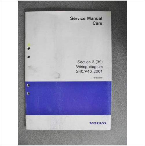 Volvo S40 V40 Wiring Diagram Manual 2001 TP3949031 on eBid United