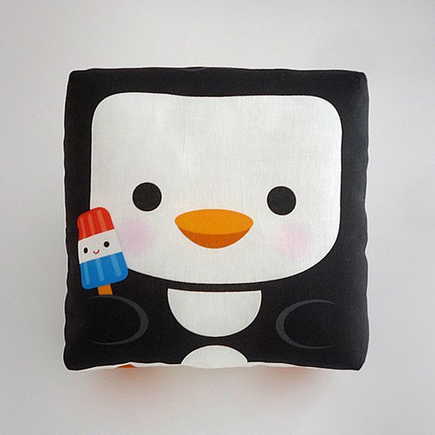 It's a penguin with a popsicle pillow!