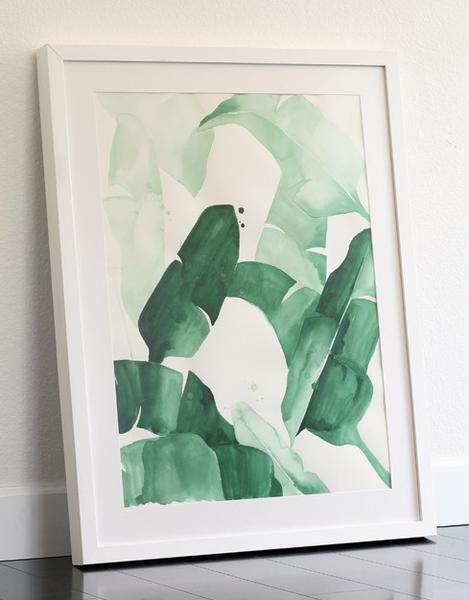 'Beverly I' Framed Original Watercolor Painting