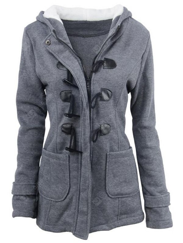 3ee74c0c3ebb Just $35.43, buy Women's Hooded Parka Leisure online shopping at  Gearbest.com Mobile.