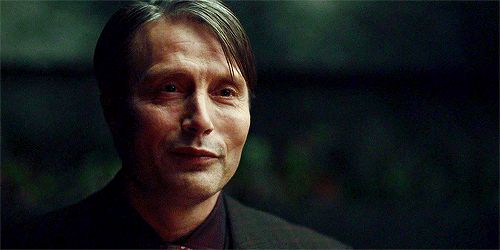 Hannibal (that adorably flirty almost shy smile...*sigh*)