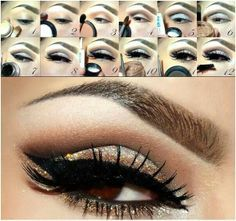 makeup tips for brown eyes step by step - Google Search