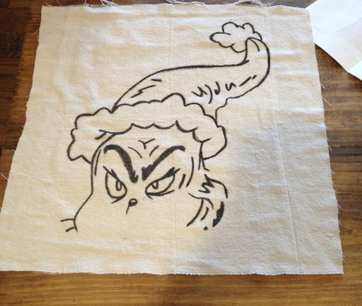 Diy Grinch Pillow A Pottery Barn Knock Off In 2020 With
