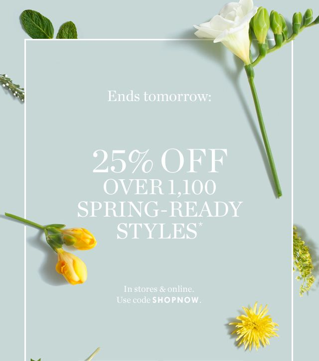 Special flower delivery…with 25% off