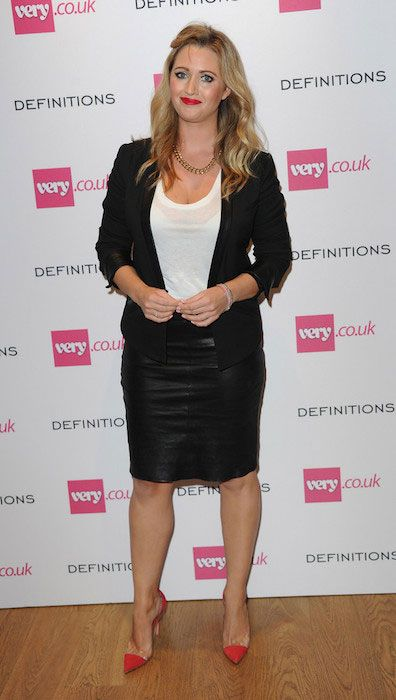 Hayley McQueen arrives at the Very.co.uk Launch Party...