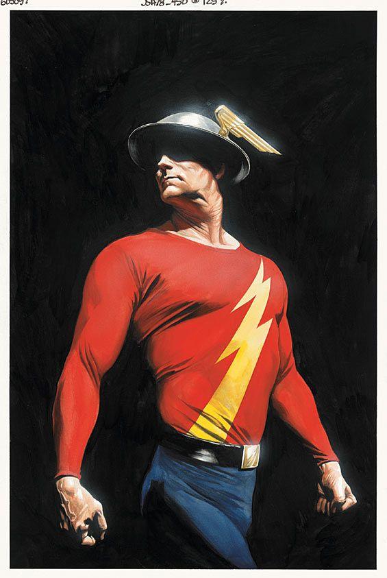 JSA #78: The original Flash, 'Mercury' helmet and all, by Alex Ross.