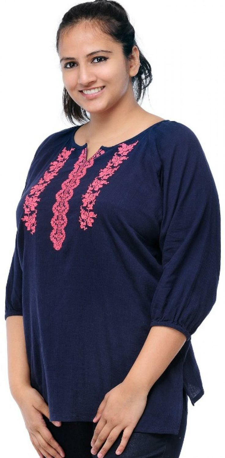 LADIES KURTI 3/4 Composition 100% COTTON Washcare NORMAL Price: Rs.1400.00 buy here: http://pluss.in/product_view.php?itemid=1611&groupid=2&subcatid=109&catid=29