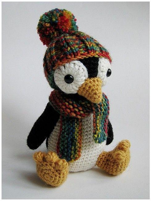 Amigurumi Penguin Crochet : Amigurumi penguin find pattern here http