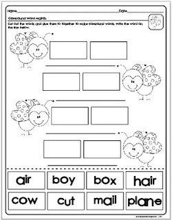 Freebie! Compound wordsCompound Words, Schools, Words Work, Lessons Plans, Languages Art, Phonics, Classroom Ideas, Reading Activities, 1St Grade