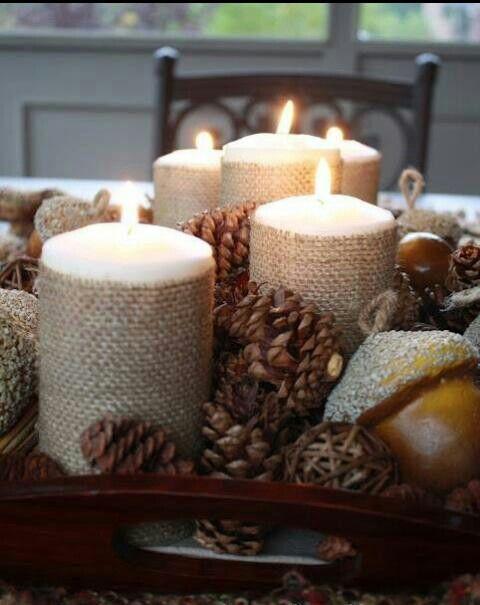 Beautiful fall decorative idea