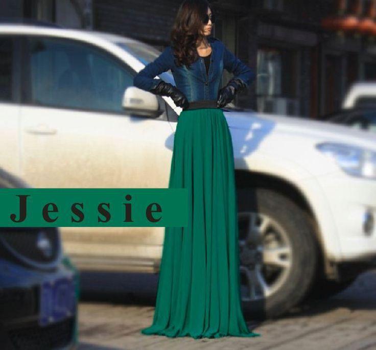High waist floor length maxi skirt – Modern skirts blog for you