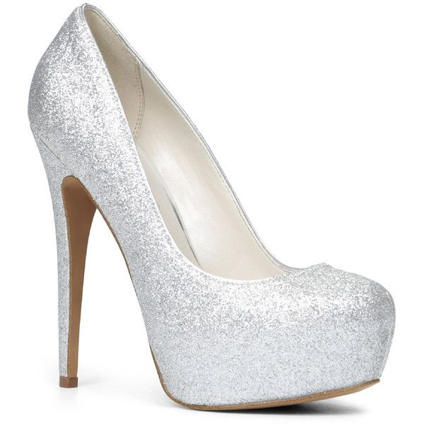 ALDO Frius (£26) ❤ liked on Polyvore featuring shoes, pumps, heels, sapatos, silver, aldo pumps, aldo, round toe pumps, sexy shoes and sexy high heel pumps
