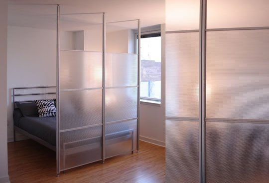 Translucent Room Divider System by Dan ForlenzaMaterials: Clear anodized aluminum, ribbed twin wall polycarbonate panels Price Point: $399 to $999