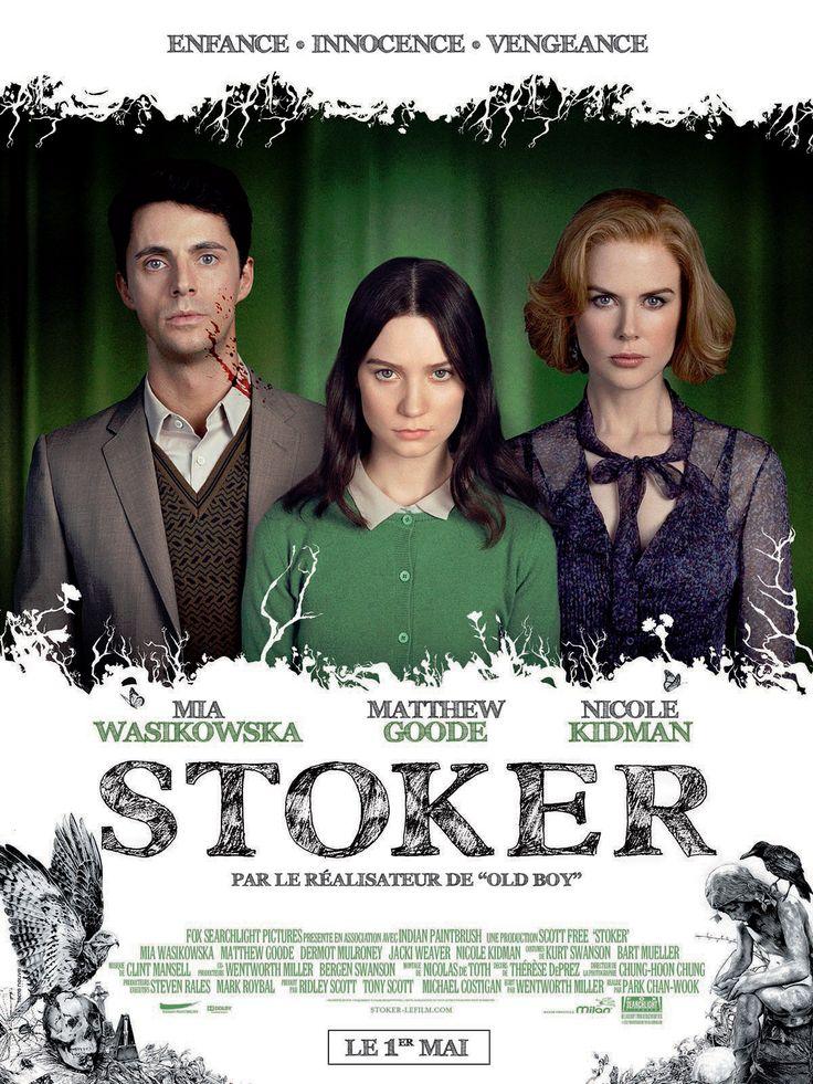 Stoker est un film de Chan-wook Park avec Mia Wasikowska , Nicole Kidman. Synopsis : Après la mort de son père dans un étrange accident de voiture, India, une adolescente, voit un oncle dont elle ignorait l'e