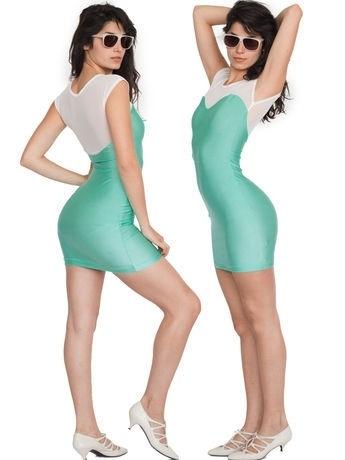 Sweetheart Two-Toned Mini Dress | Shop American Apparel - StyleSays